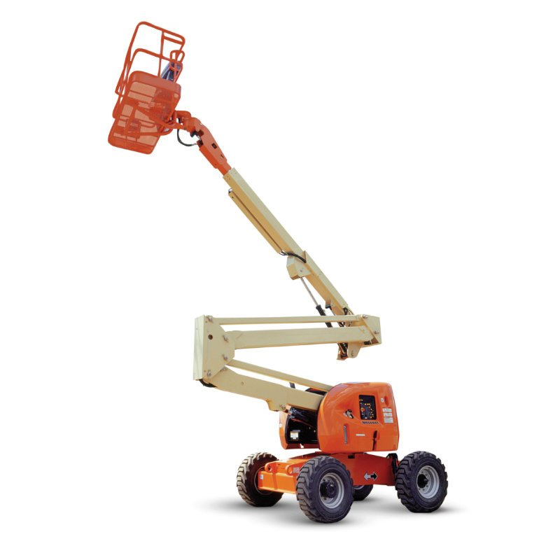 Rental aerial lifts include JLG knuckle booms