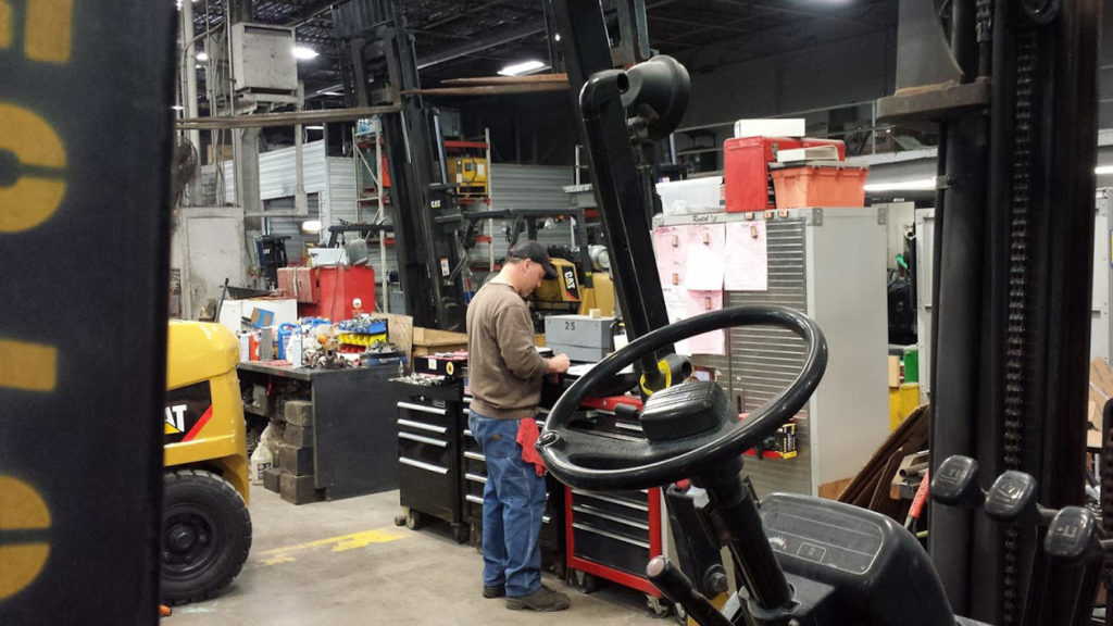 Indianapolis forklift dealer provides service for used or new equipment on-site or by coming to you.
