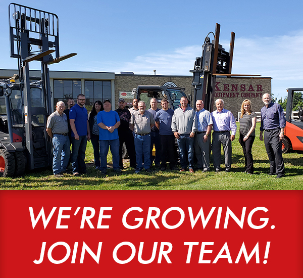Kensar Equipment Company has job openings in Indianapolis!