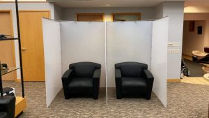ModTruss Room Partitions for office and waiting rooms