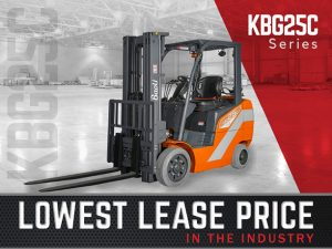 Affordable lease price on a new Baoli Forklift