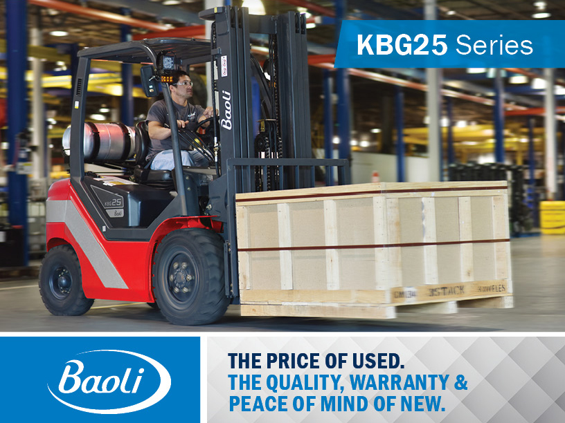 Buy a new Baoli KBG25 Series forklift for the price of used. Limited time offer from Kensar Equipment.