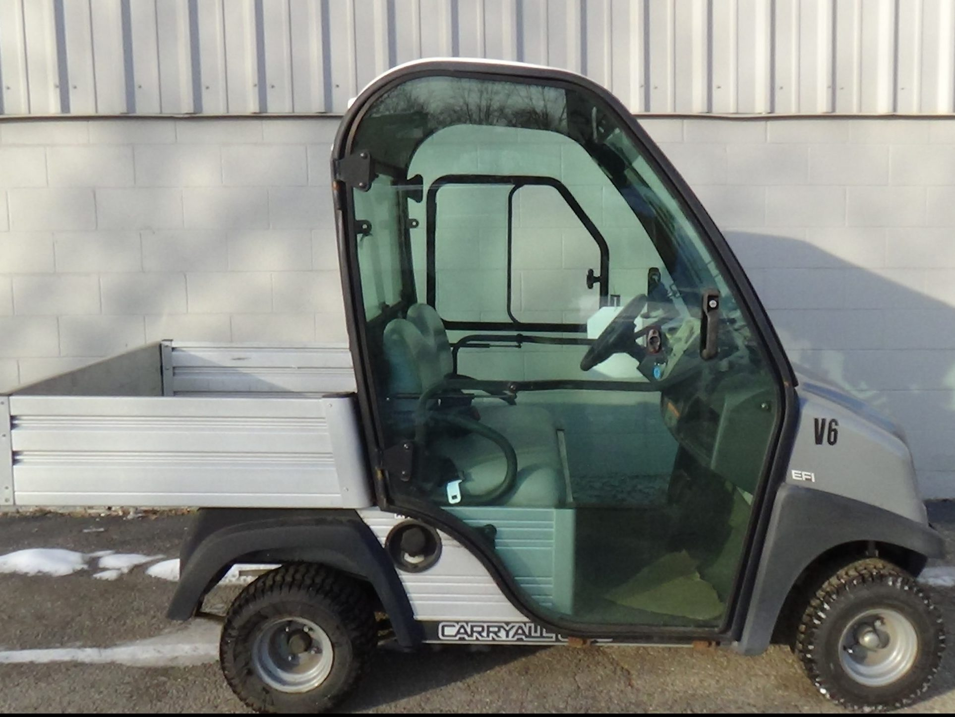 Used cart with Cab for Sale at Kensar Equipment. Club Car CarryAll 300.