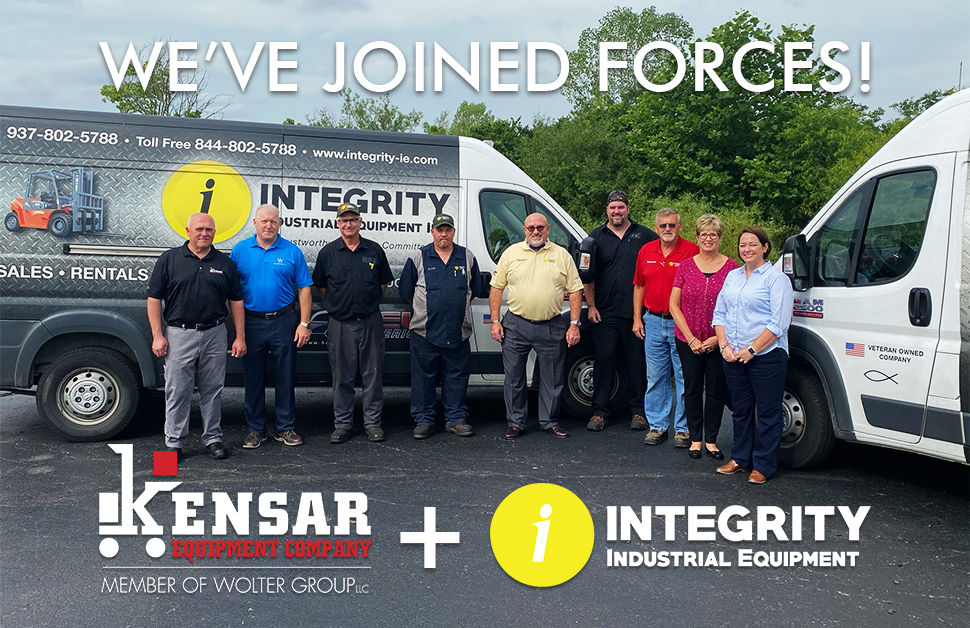 Kensar Equipment expands into Ohio, joining forces with Integrity Industrial Equipment.