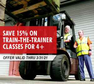 Save 15% on Train-the-Trainer classes for 4 or more at your location. Call Kensar Equipment to schedule training today!