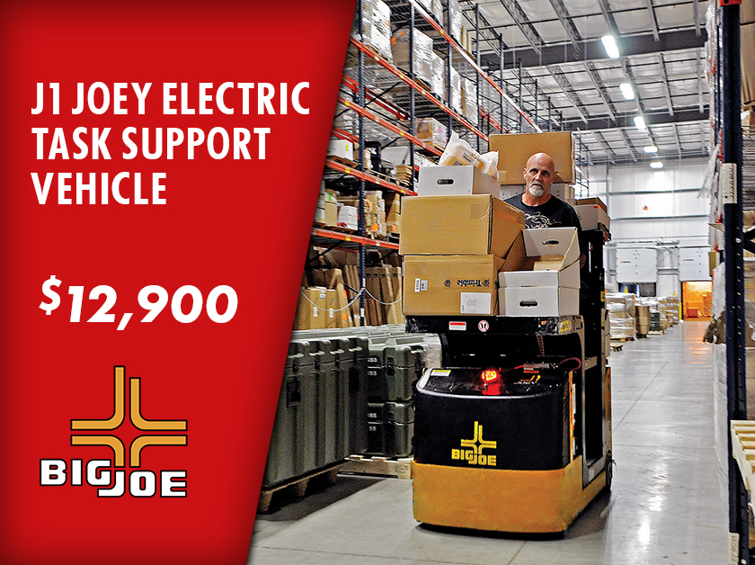 For a limited time from Kensar Equipment - buy a new J1 Joey Task Support Vehicle for $12,900. See page for full details. Offer ends 3/31/2021.