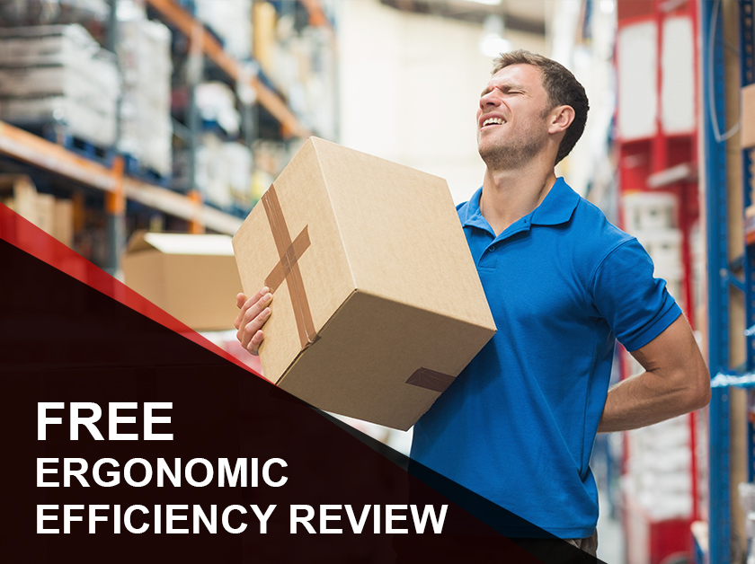 Reduce Back and Lifting Injuries with a Free Ergonomic Efficiency Review, plus enjoy 7% off ergonomic products